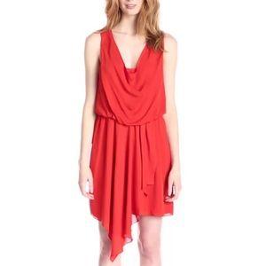Joie Women's Tiandi Silk Asymetrical Hem Dress